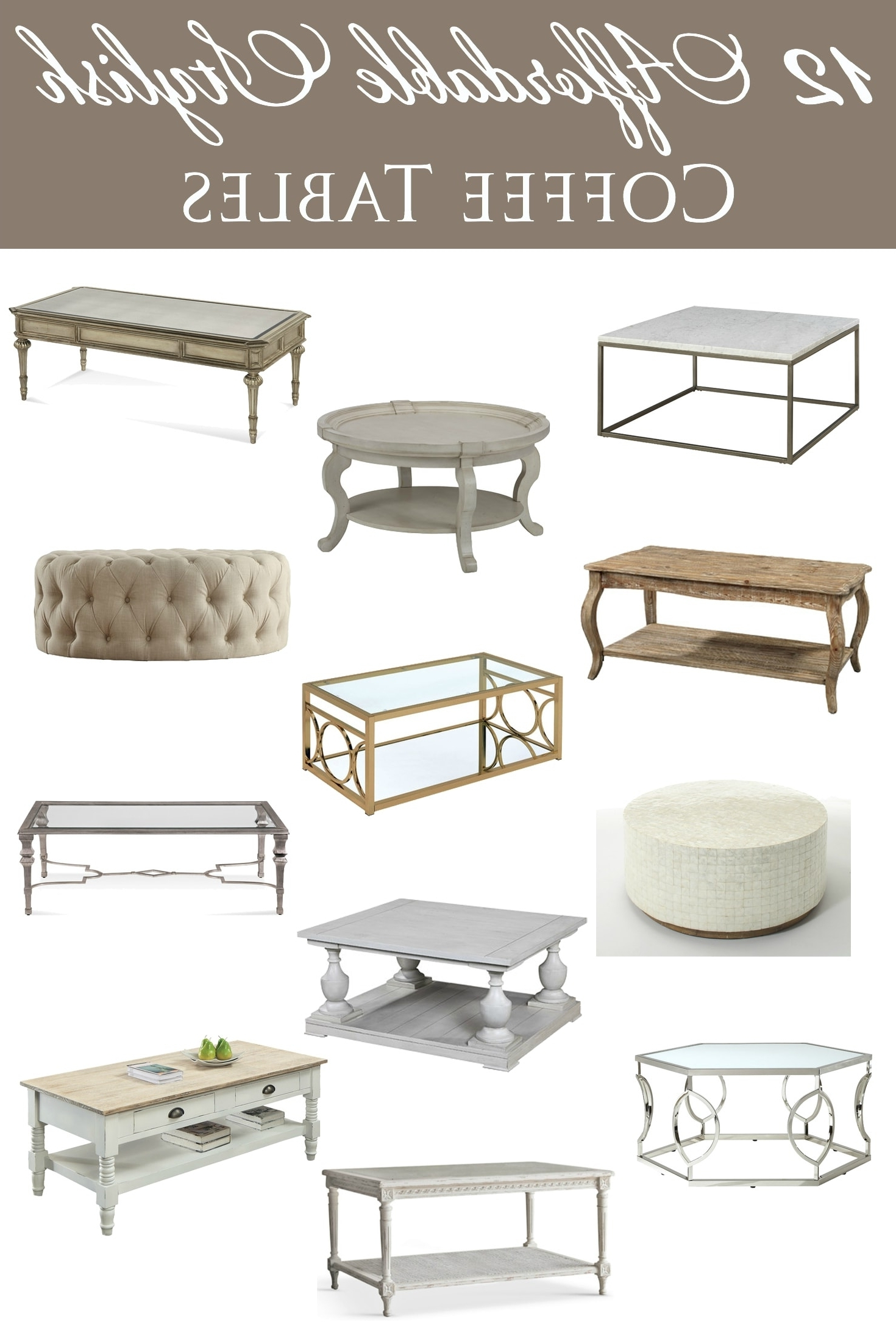 Most Popular Abby Cocktail Tables For 12 Affordable Stylish Coffee Tables (View 13 of 20)