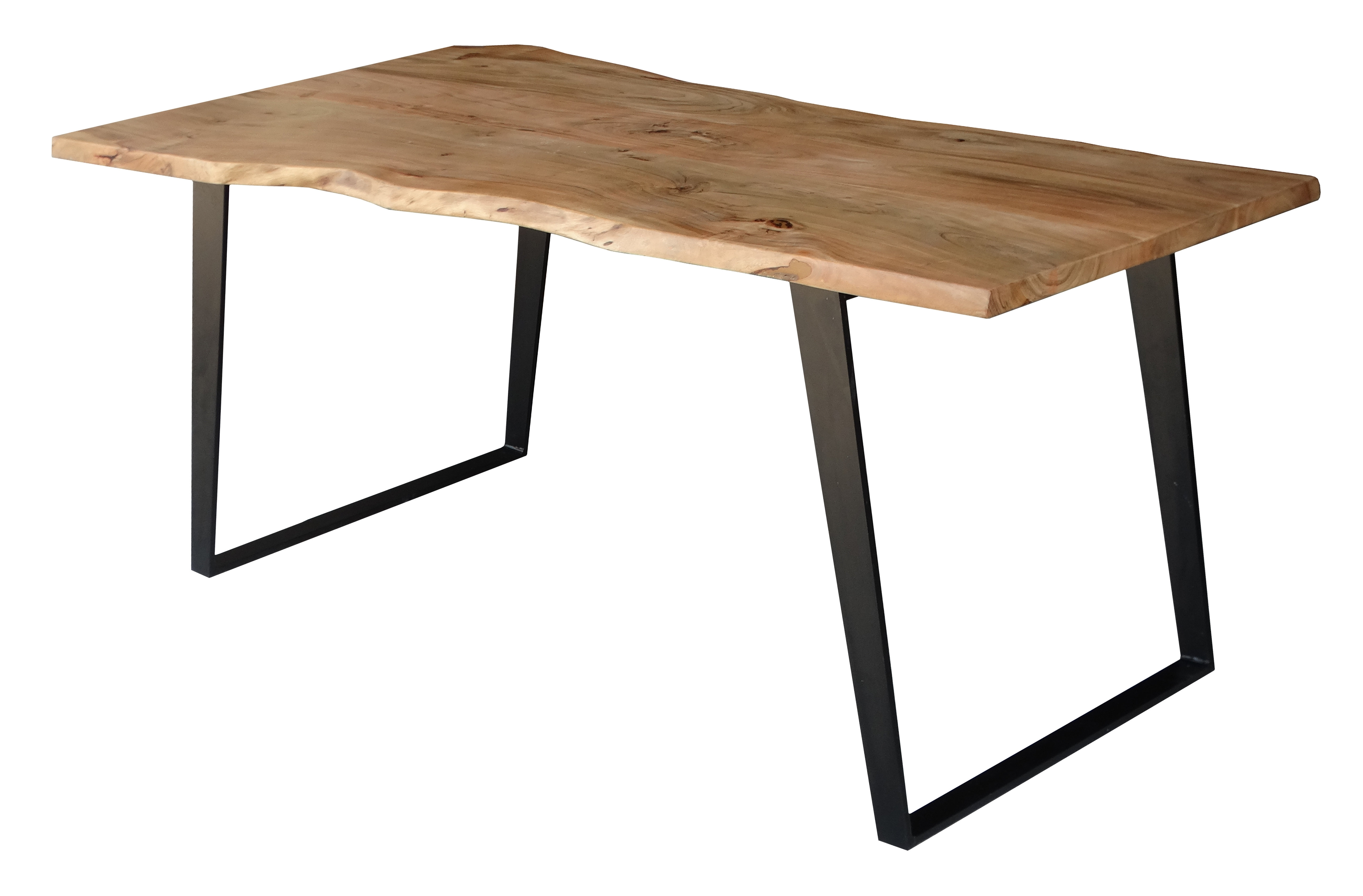 Most Popular Chiseled Edge Coffee Tables In Millwood Pines Emmeline Solid Wood Live Edge Dining Table & Reviews (View 13 of 20)