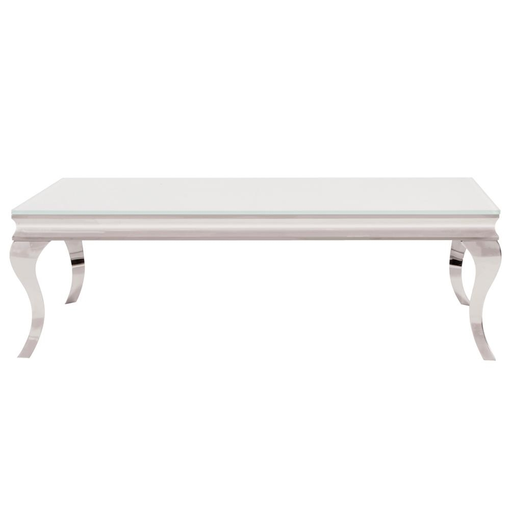 Most Popular Element Ivory Rectangular Coffee Tables Within White And Stainless Coffee Table 38006 – The Home Depot (View 10 of 20)