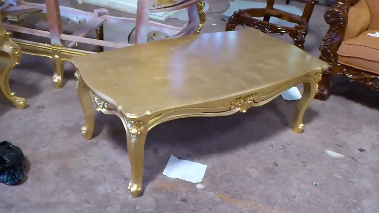 Most Popular Gold Leaf Collection Coffee Tables With Regard To Antique Gold Leaf Carving Coffee Table – Vixidesign – Youtube (View 8 of 20)