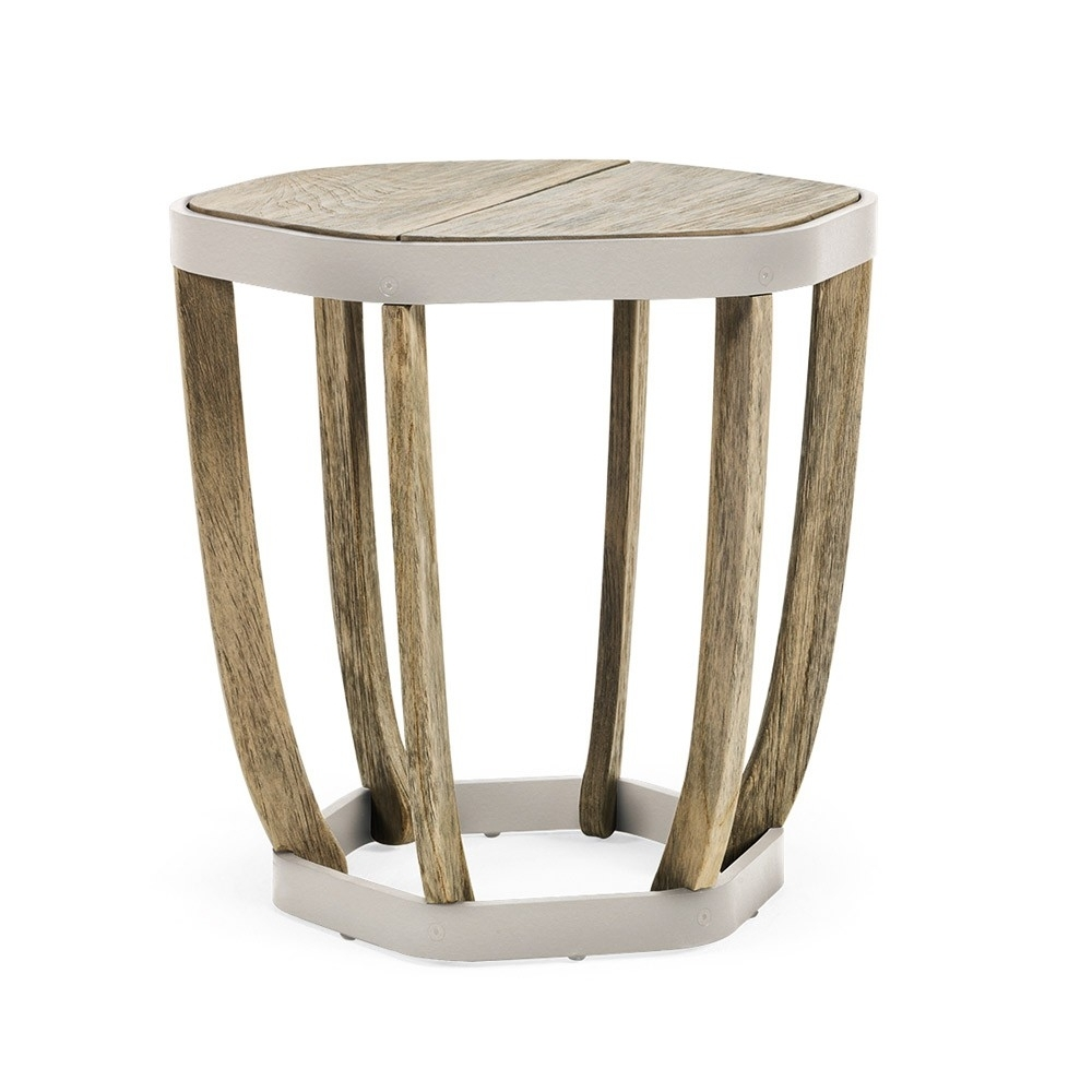 Most Popular Kai Small Coffee Tables For Ethimo Swing Small Coffee Table Pickled Teak (View 9 of 20)