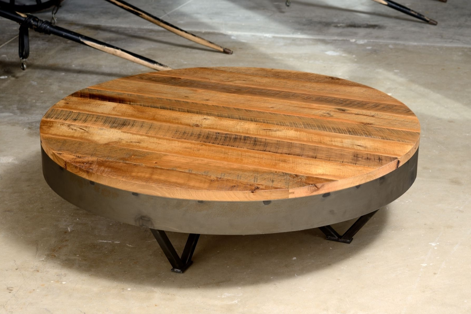 Most Popular Large Teak Coffee Tables In Large Round Teak Coffee Table Best Gallery Of Tables Furniture (View 7 of 20)