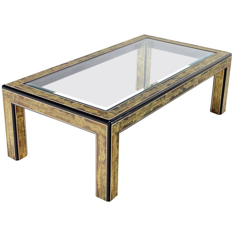 Most Popular Rectangular Coffee Tables With Brass Legs For Metal Frame Glass Coffee Table Glass Tops For Wood Furniture Two (View 16 of 20)