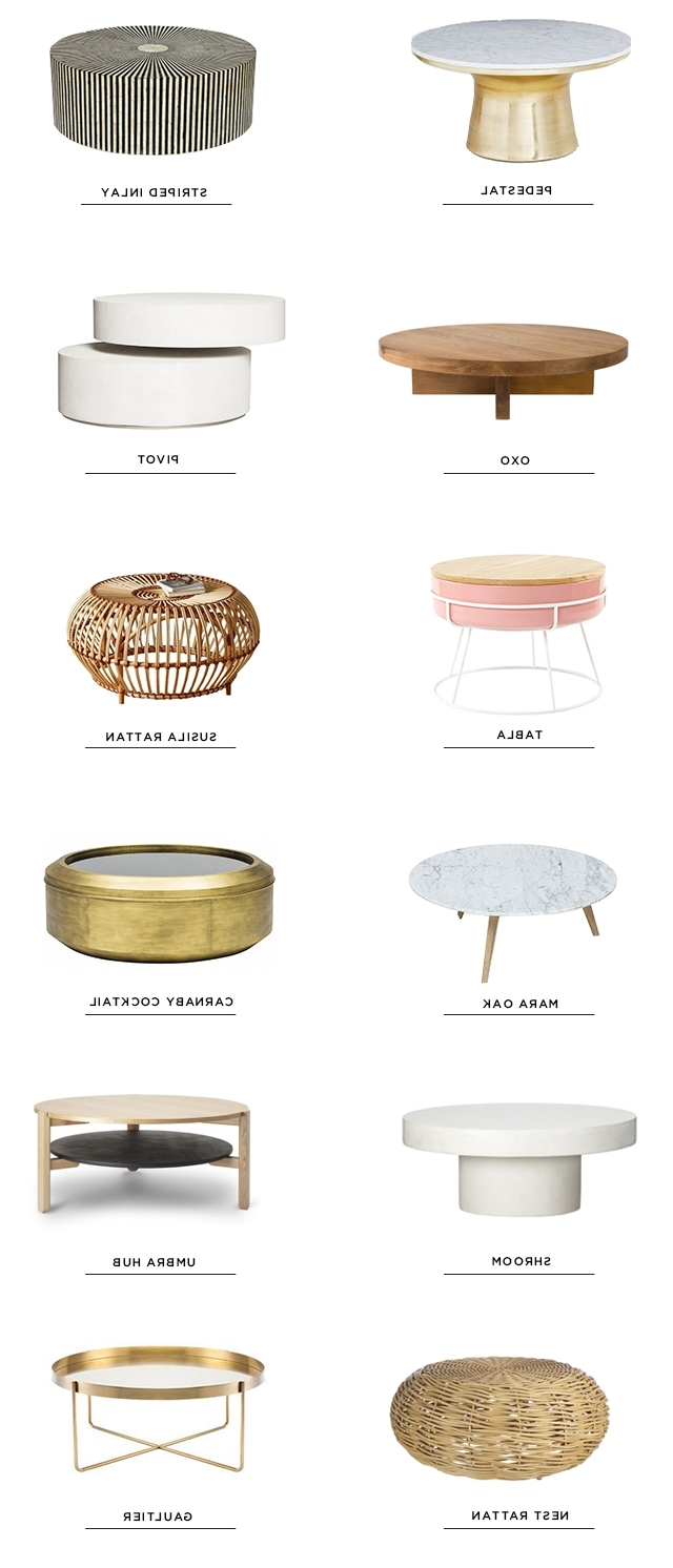 Most Popular Shroom Large Coffee Tables For Sarah Sherman Samuel:12 Round Coffee Tables (View 10 of 20)