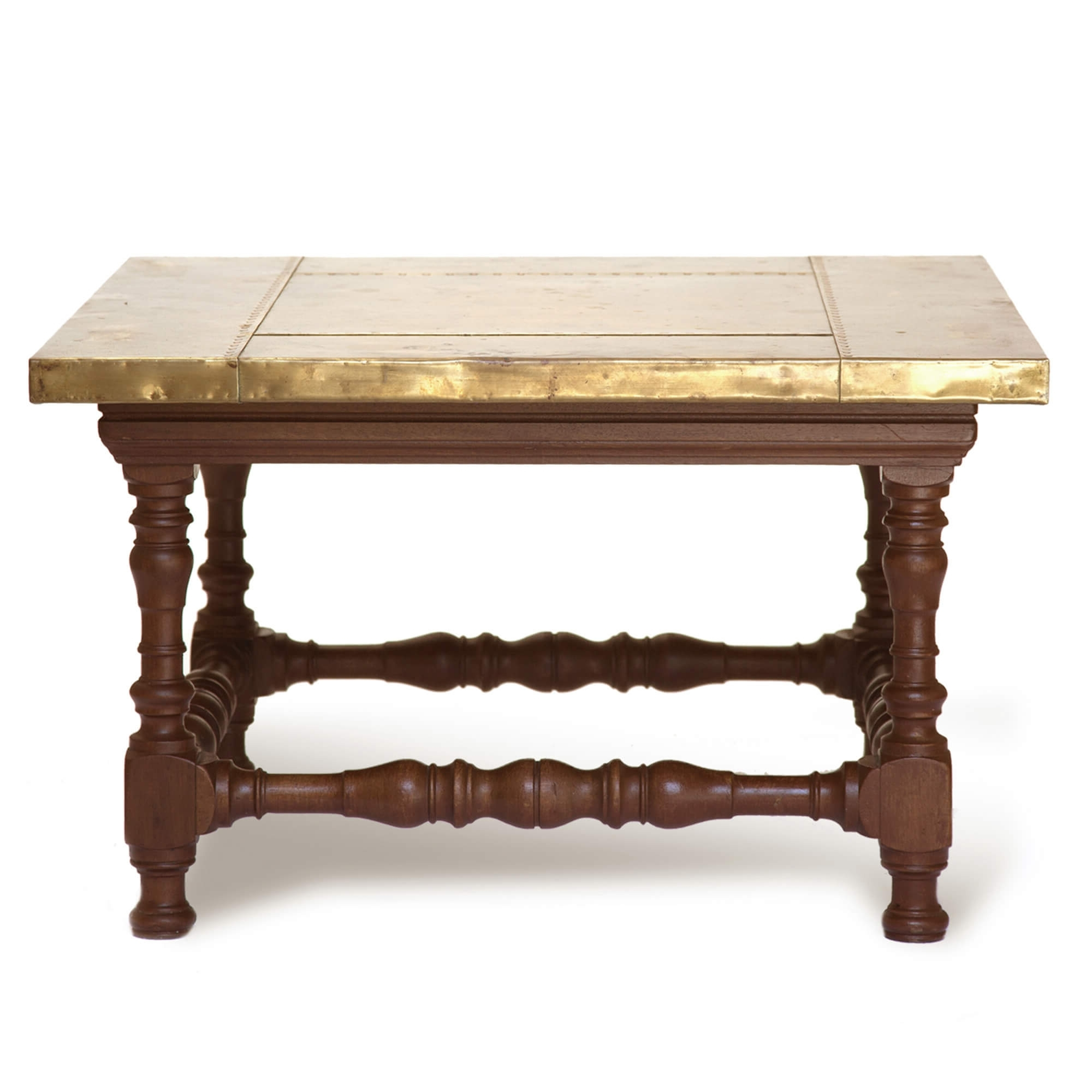 Most Recent Antique Brass Coffee Tables Pertaining To Vintage Brass Topped Coffee Table (View 15 of 20)