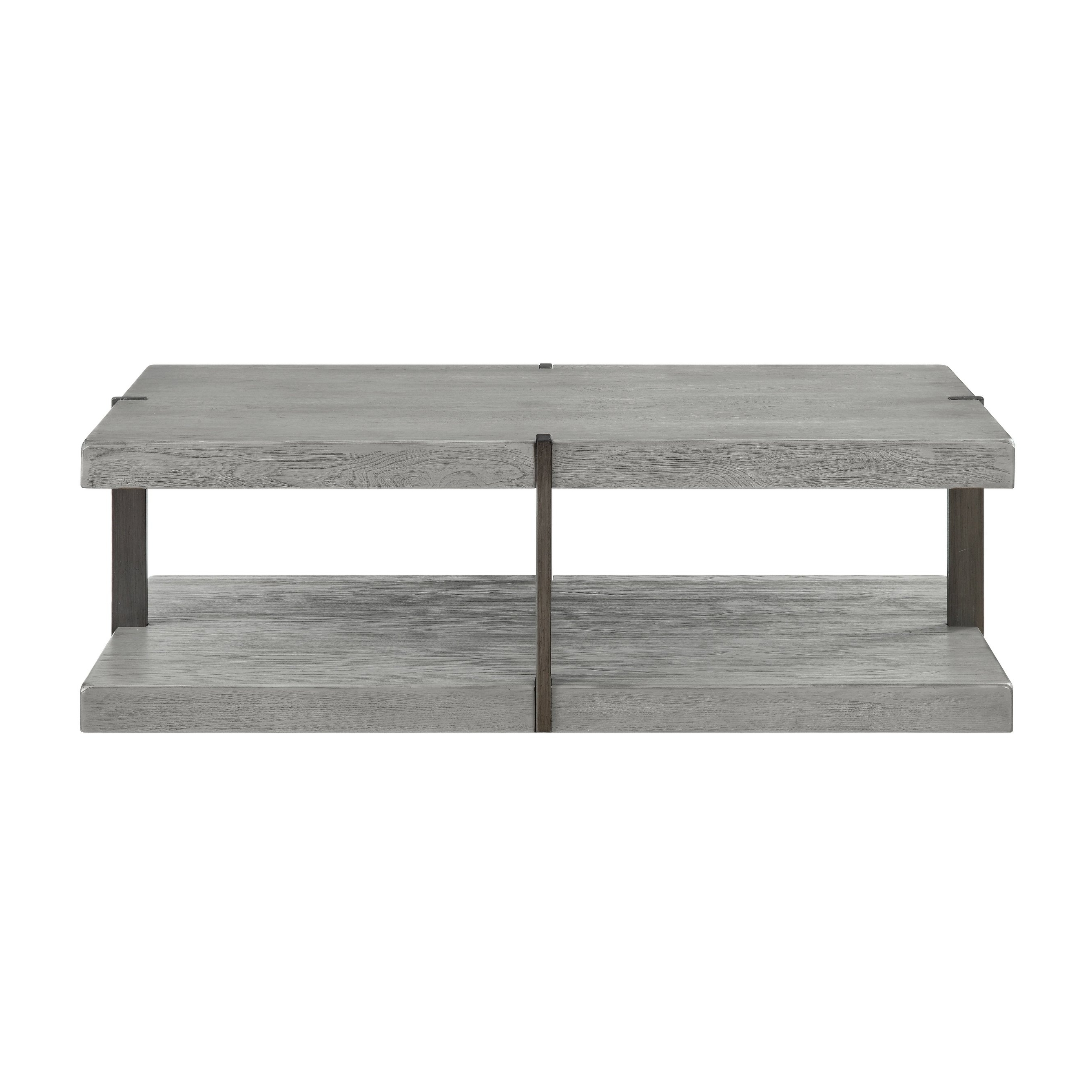 Most Recent Autumn Cocktail Tables With Casters In Shop Somette Fleet Grey Greystone Cocktail Table – Free Shipping (View 12 of 20)
