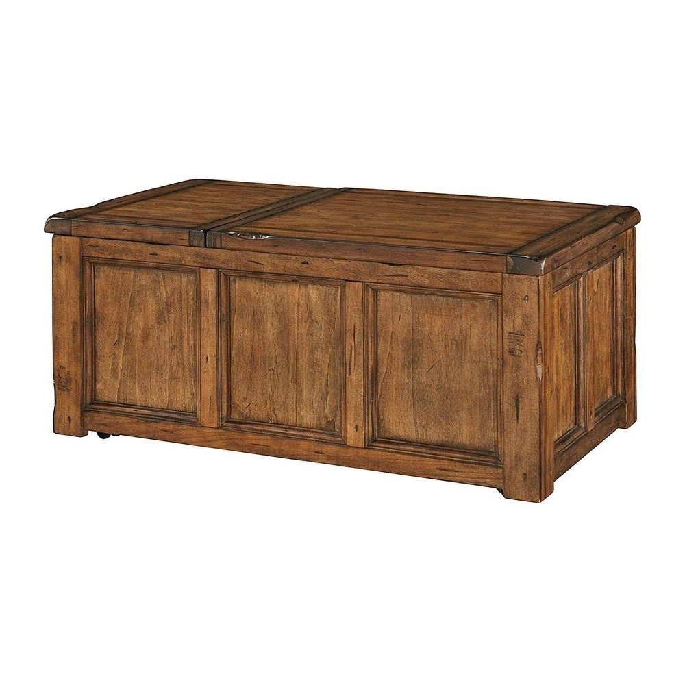 Most Recent Chiseled Edge Coffee Tables For Shop Ashley T830 9 Rustic Finish Coffee Table W/ Chiseled Edges (View 4 of 20)