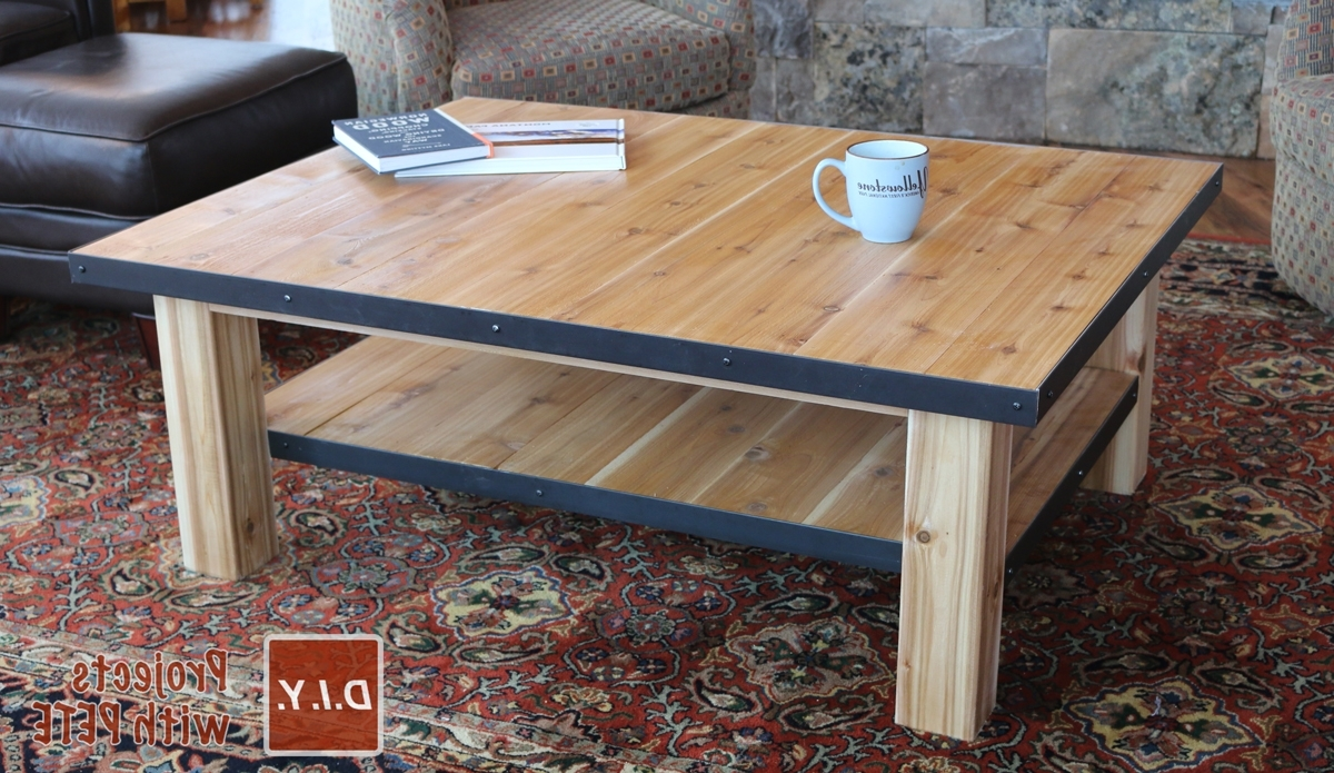 Most Recent Mill Large Coffee Tables For How To Make A Wood Coffee Table With Steel Accents (View 8 of 20)