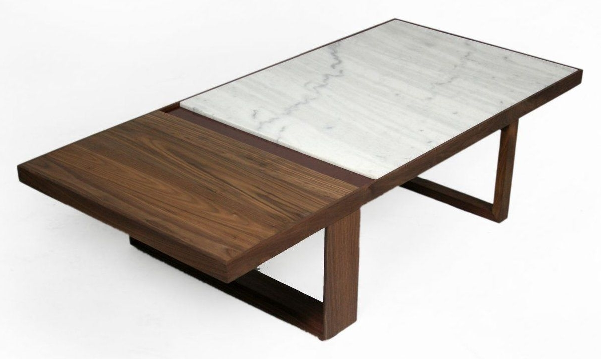 Most Recent Suspend Ii Marble And Wood Coffee Tables Pertaining To Inspiring Marble Coffee Table For Living Room Furniture Ideas: Palm (View 12 of 20)
