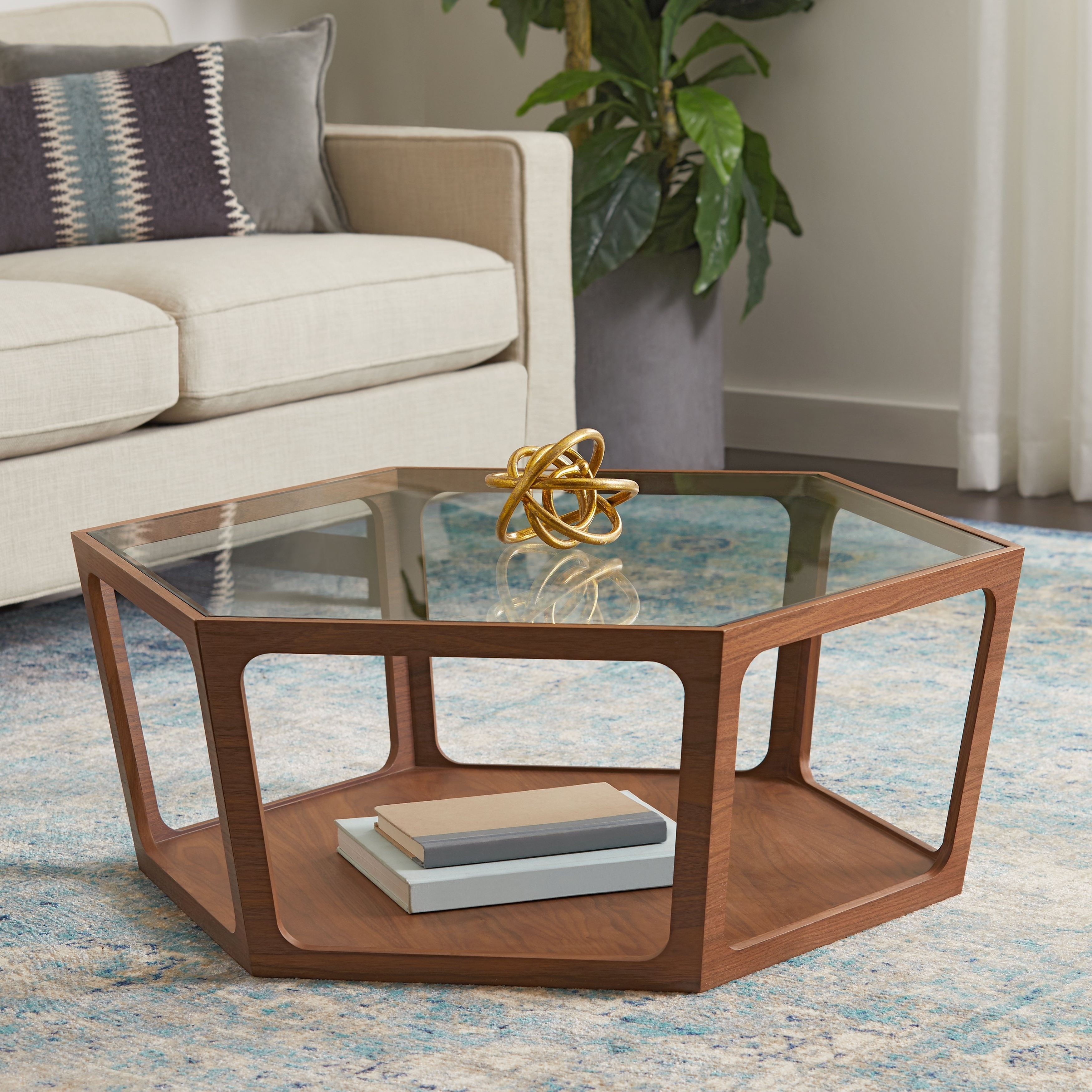 Most Recent Verona Cocktail Tables For Shop Abbyson Verona Walnut Coffee Table – On Sale – Free Shipping (View 14 of 20)