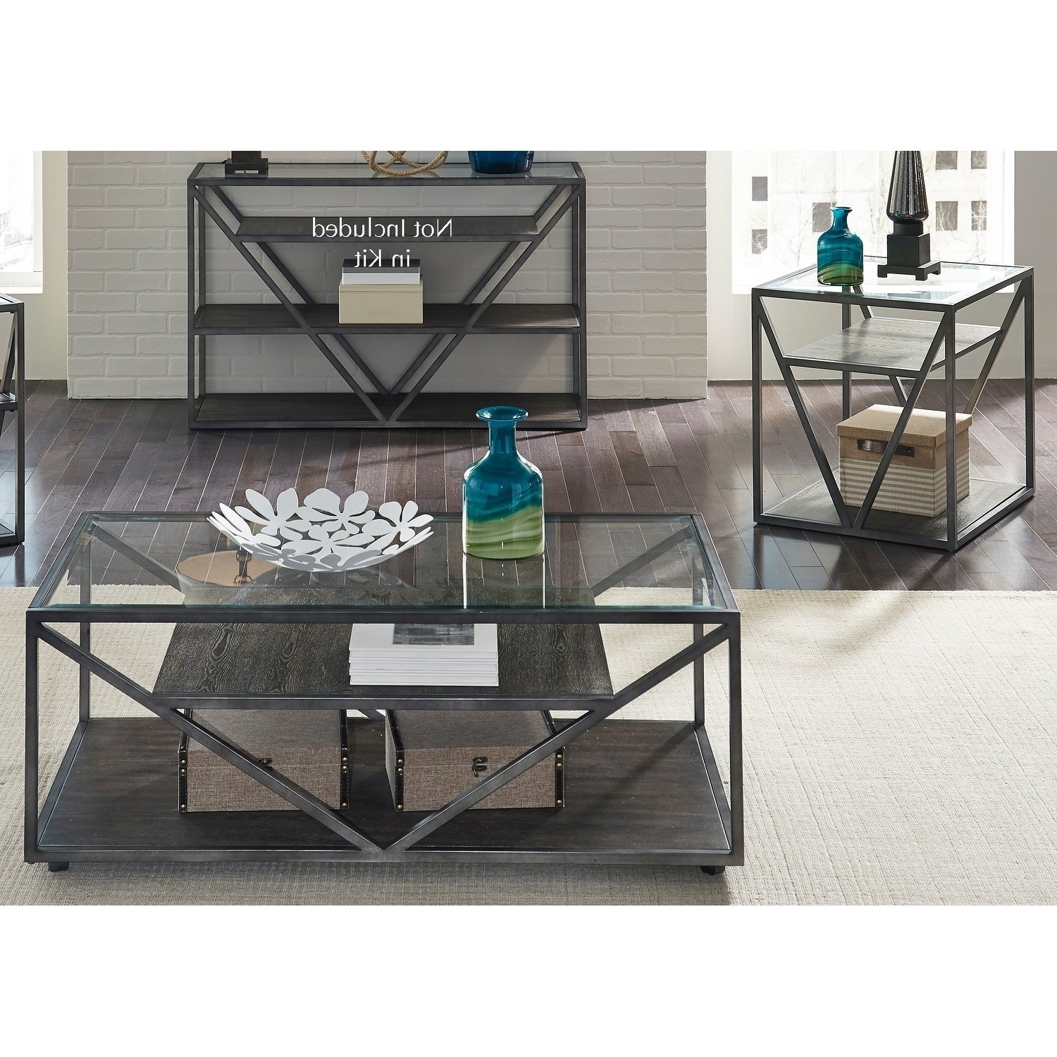 Most Recent Waxed Metal Coffee Tables With Regard To Shop Arista Cobblestone Brown And Grey Dusty Wax 3 Piece Occasional (View 8 of 20)