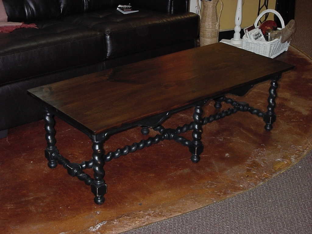 """Most Recently Released Barley Twist Coffee Tables Within Stained Top Coffee Table On """"barley Twist"""" Base (approx: 24″ X (View 3 of 20)"""