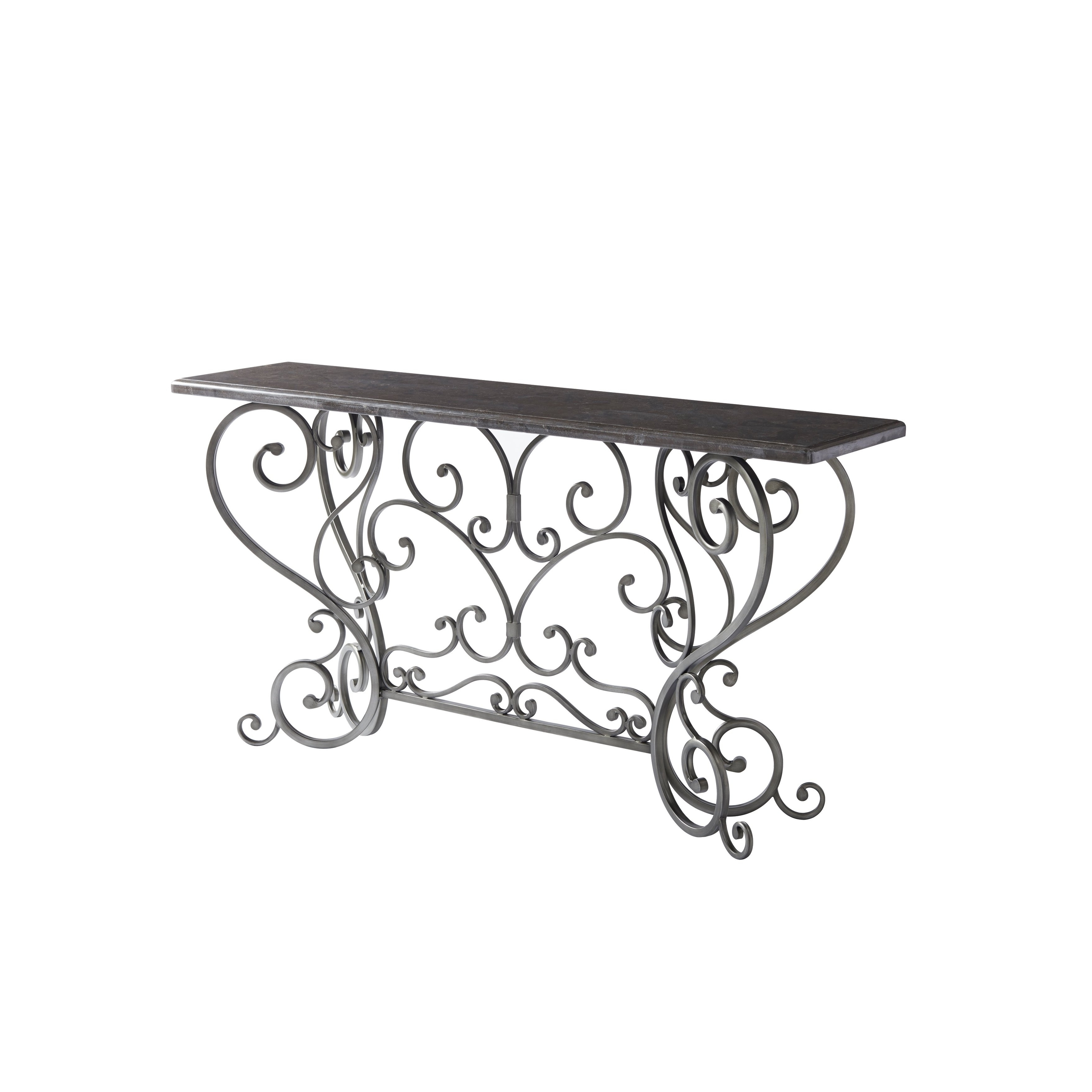 Most Recently Released Bluestone Rustic Black Coffee Tables Regarding Shop Paula Deen Bungalow Bluestone Rectangle Jasmine Console Table (View 13 of 20)
