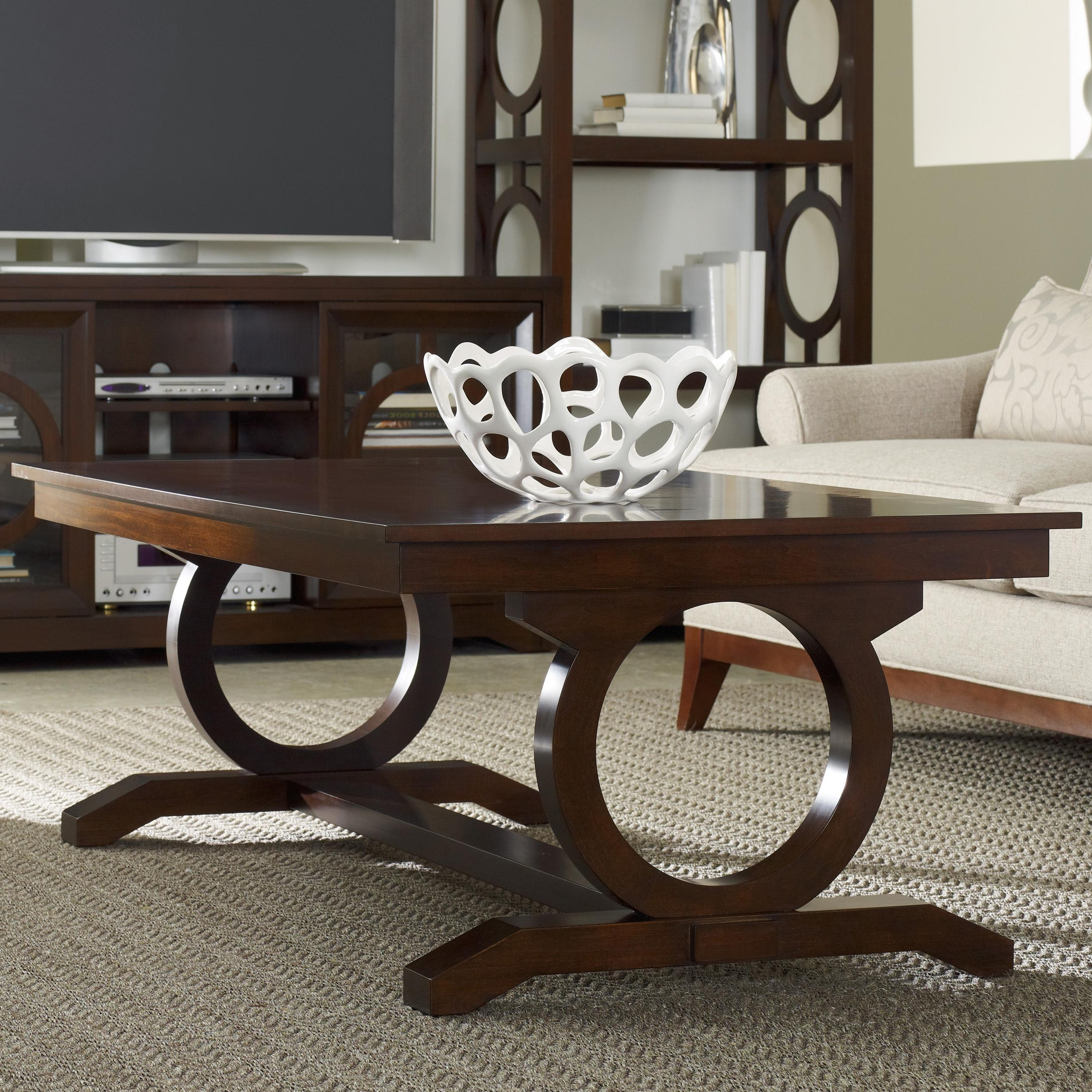Most Recently Released Exton Cocktail Tables With Regard To Hooker Furniture Kinsey Contemporary Cocktail Table With Open Circle (View 12 of 20)