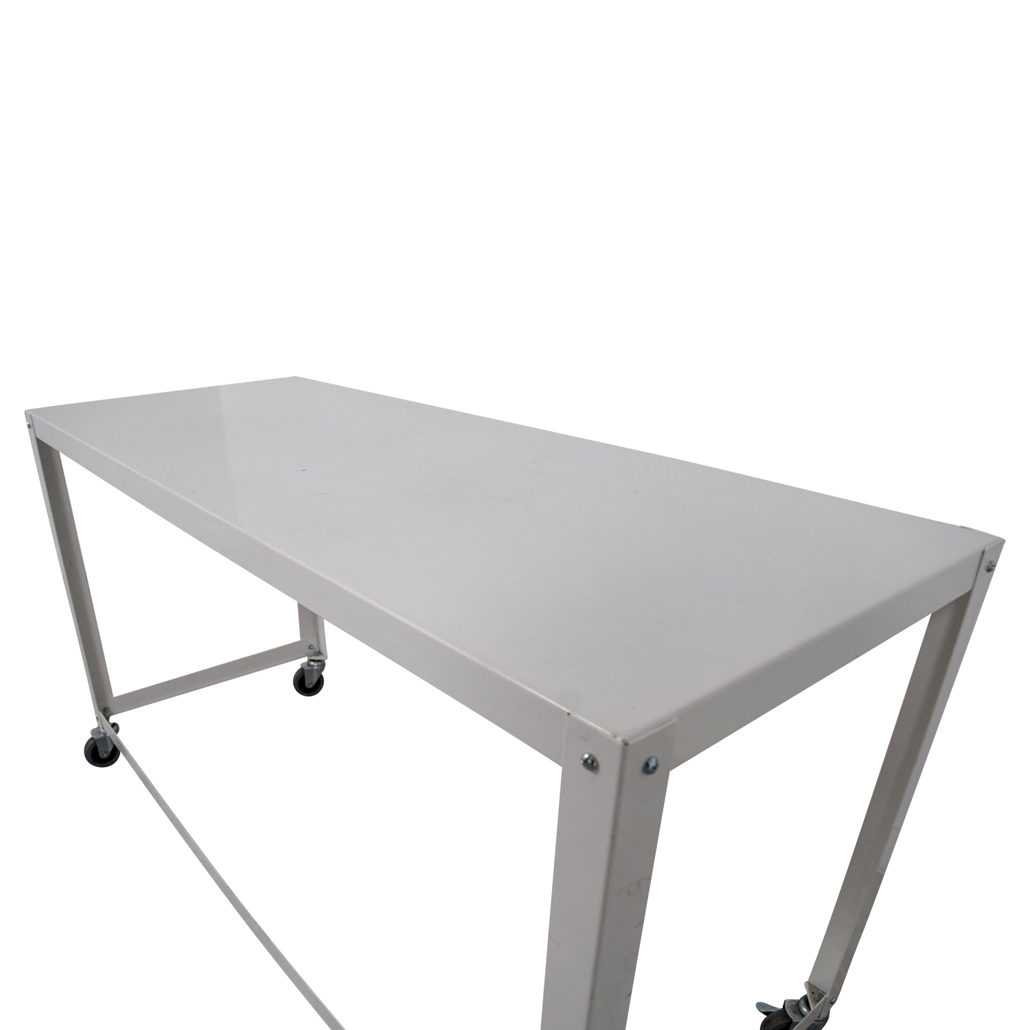 [%most Recently Released Go Cart White Rolling Coffee Tables Throughout 81% Off – Cb2 Cb2 Go Cart White Rolling Desk / Tables|81% Off – Cb2 Cb2 Go Cart White Rolling Desk / Tables Inside Most Up To Date Go Cart White Rolling Coffee Tables%] (View 6 of 20)