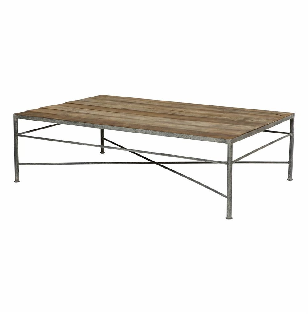 Most Recently Released Gunmetal Coffee Tables Intended For Isabelle Reclaimed Wood Metal Modern Rustic Coffee Table (View 3 of 20)