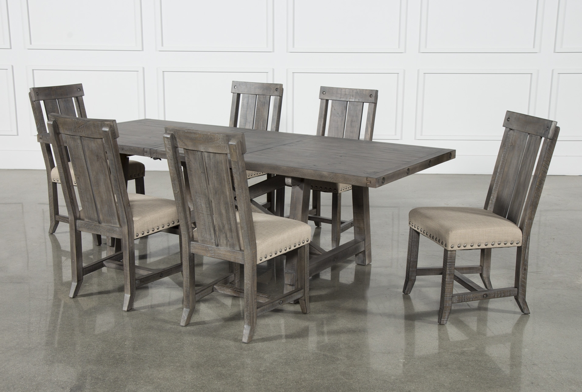 Most Recently Released Jaxon Grey Lift Top Cocktail Tables Throughout Jaxon Grey 7 Piece Rectangle Extension Dining Set W/wood Chairs (View 15 of 20)