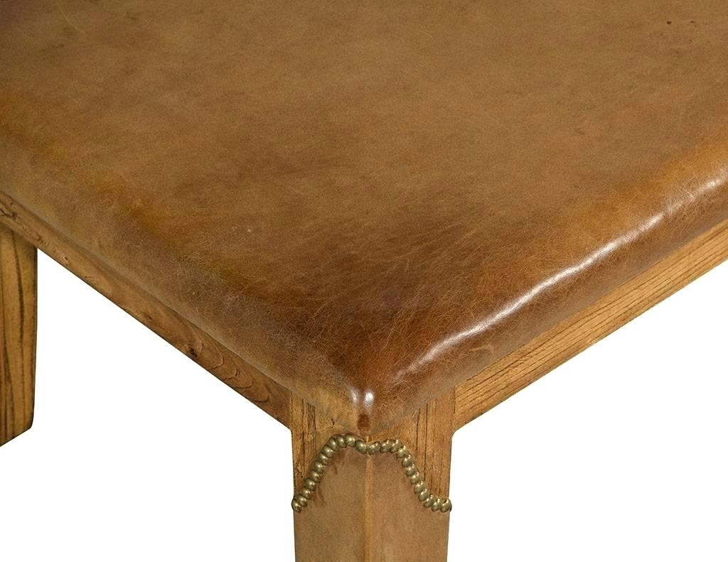 Most Recently Released Laurent Lift Top Cocktail Tables Inside Leather Top Coffee Table Vintage Old Colony Mahogany Green Leather (View 20 of 20)