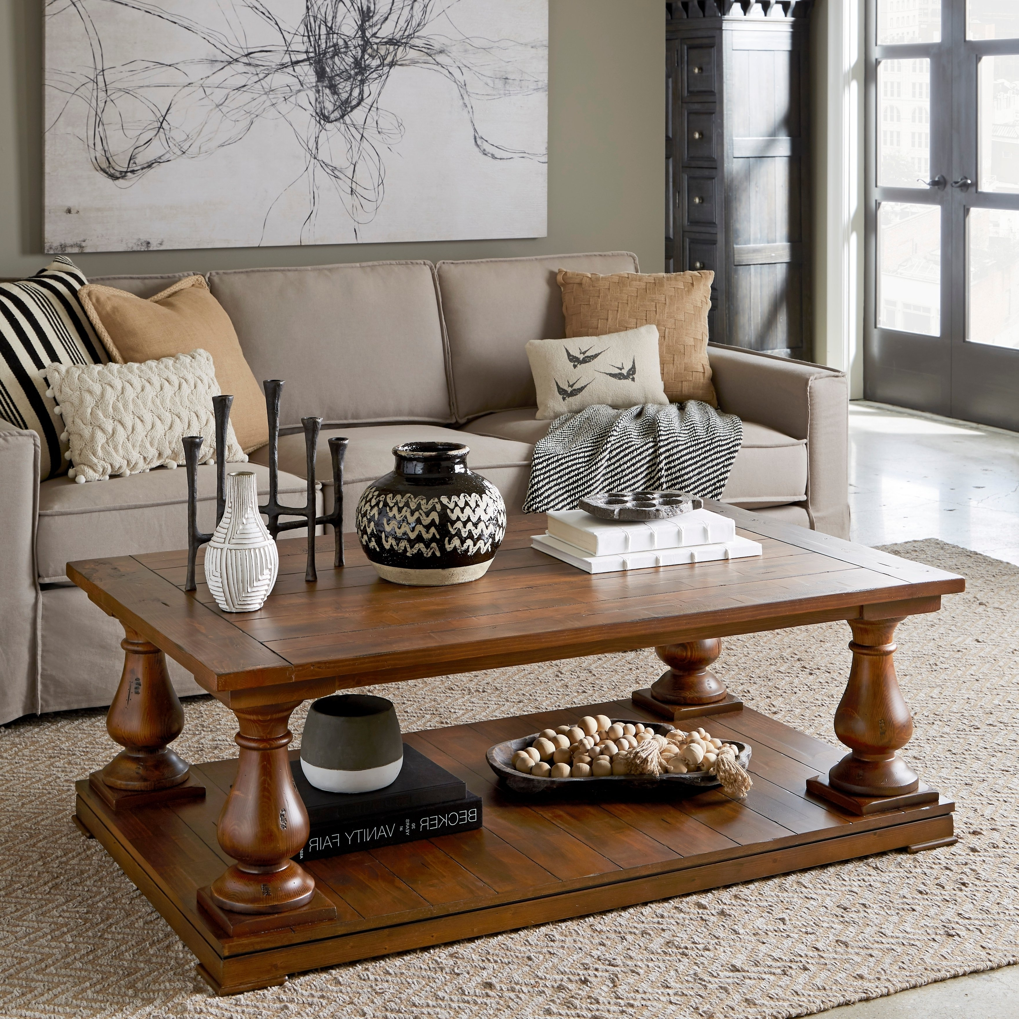 Most Recently Released Natural Pine Coffee Tables Pertaining To Shop Densbury Traditional Rustic Natural Pine Coffee Table – On Sale (View 7 of 20)