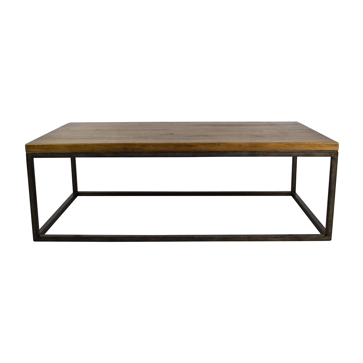 [%Most Recently Released Reclaimed Elm Cast Iron Coffee Tables Throughout 51% Off – West Elm West Elm Box Frame Coffee Table / Tables|51% Off – West Elm West Elm Box Frame Coffee Table / Tables With Regard To Best And Newest Reclaimed Elm Cast Iron Coffee Tables%] (View 1 of 20)