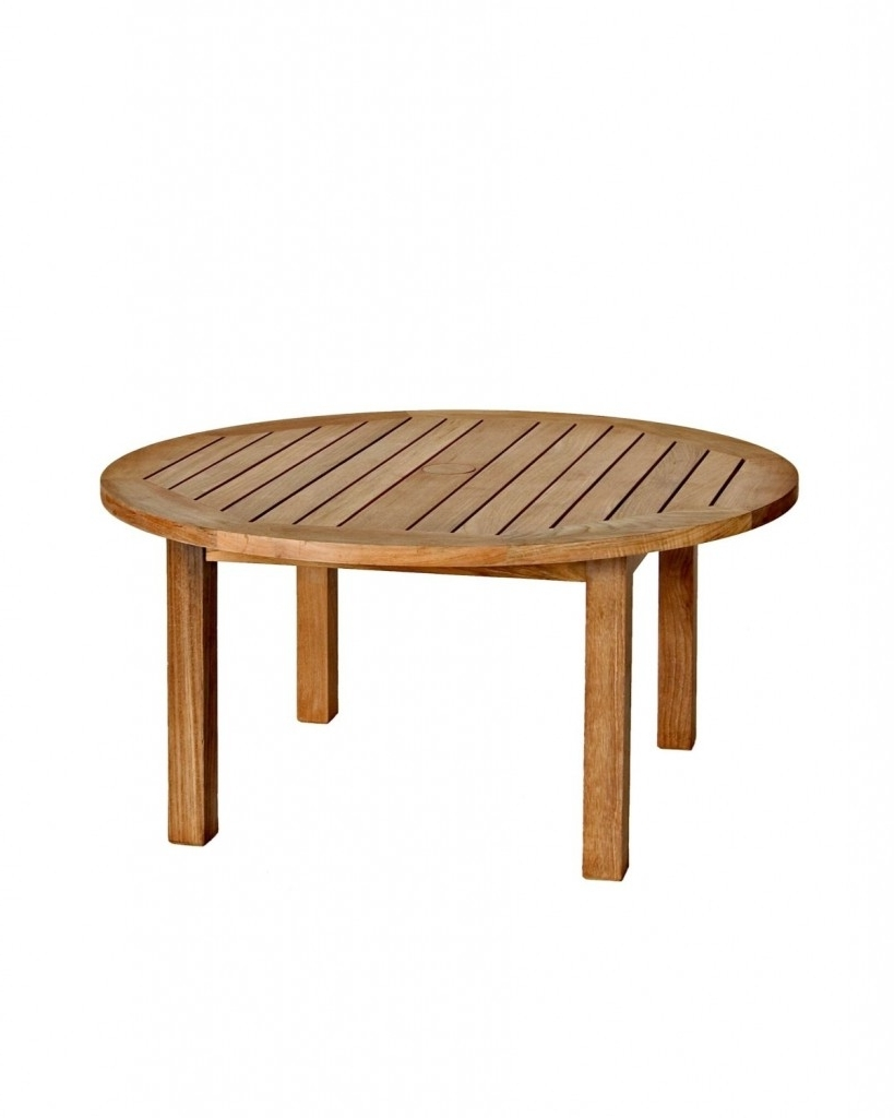 Most Recently Released Round Teak Coffee Tables Pertaining To Three Birds Casual Canterbury 36 Inch Round Teak Coffee Table – Teak (View 11 of 20)