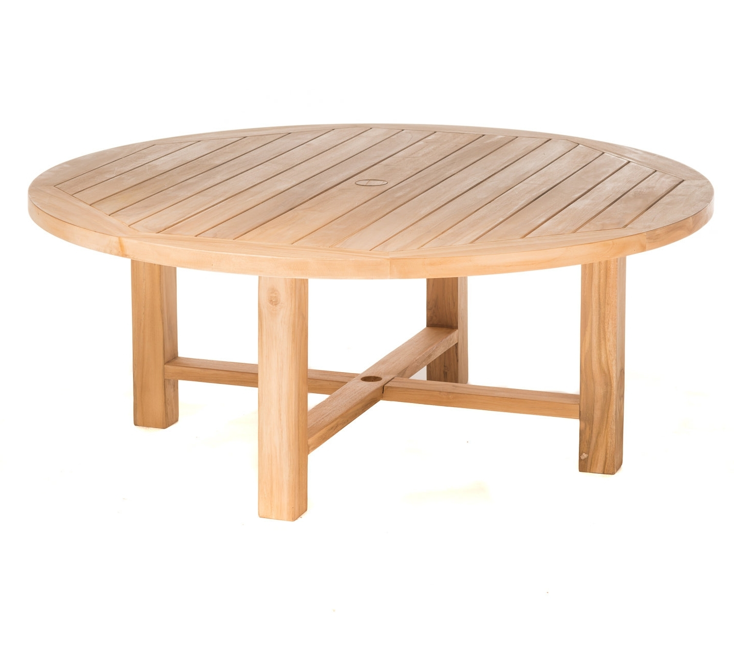 Most Recently Released Round Teak Coffee Tables Regarding Rosecliff Heights Earnest Round Teak Coffee Table (View 16 of 20)