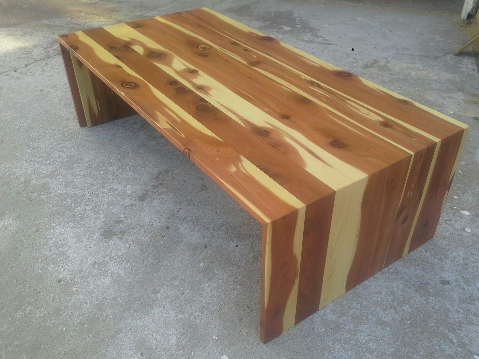 Most Recently Released Waterfall Coffee Tables For Custom Cedar Waterfall Coffee Tabletpt Cal (View 11 of 20)