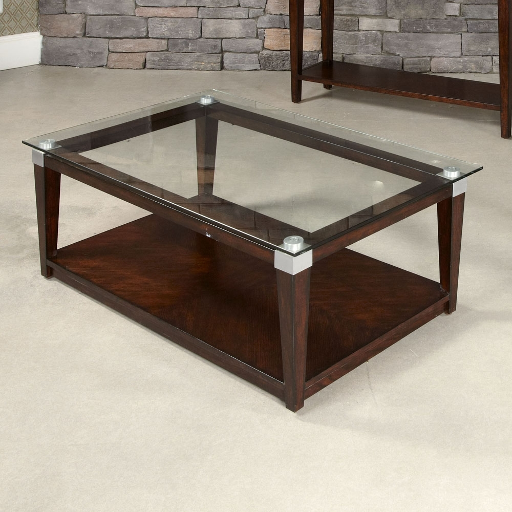 Most Recently Released Zander Cocktail Tables Regarding Hammary Solitaire Rectangular Cocktail Table In Rich Dark Cheap (View 6 of 20)