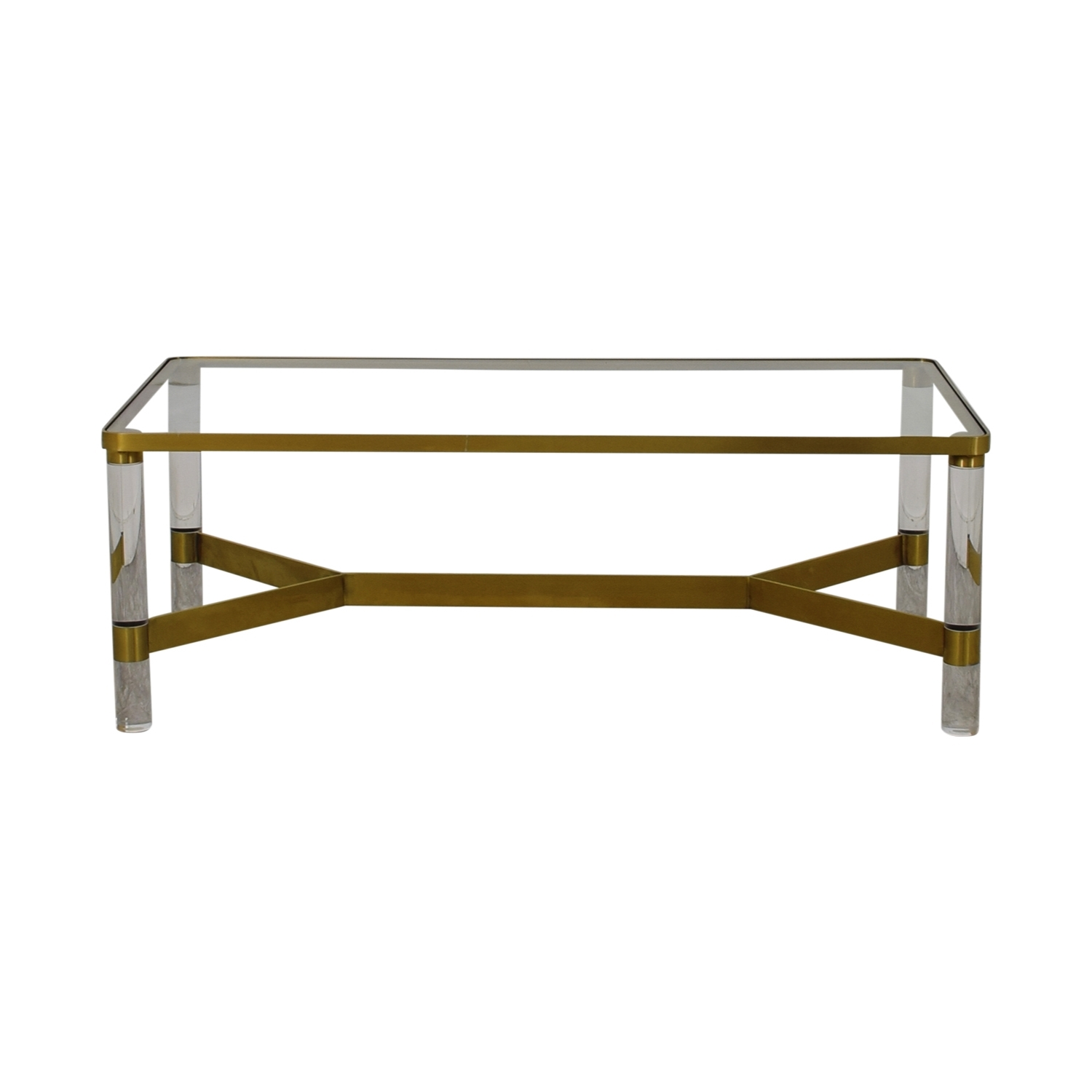[%most Up To Date Acrylic Glass And Brass Coffee Tables Intended For 67% Off – Anthropologie Anthropologie Oscarine Glass Acrylic & Brass 67% Off – Anthropologie Anthropologie Oscarine Glass Acrylic & Brass Inside Most Current Acrylic Glass And Brass Coffee Tables%] (View 8 of 20)