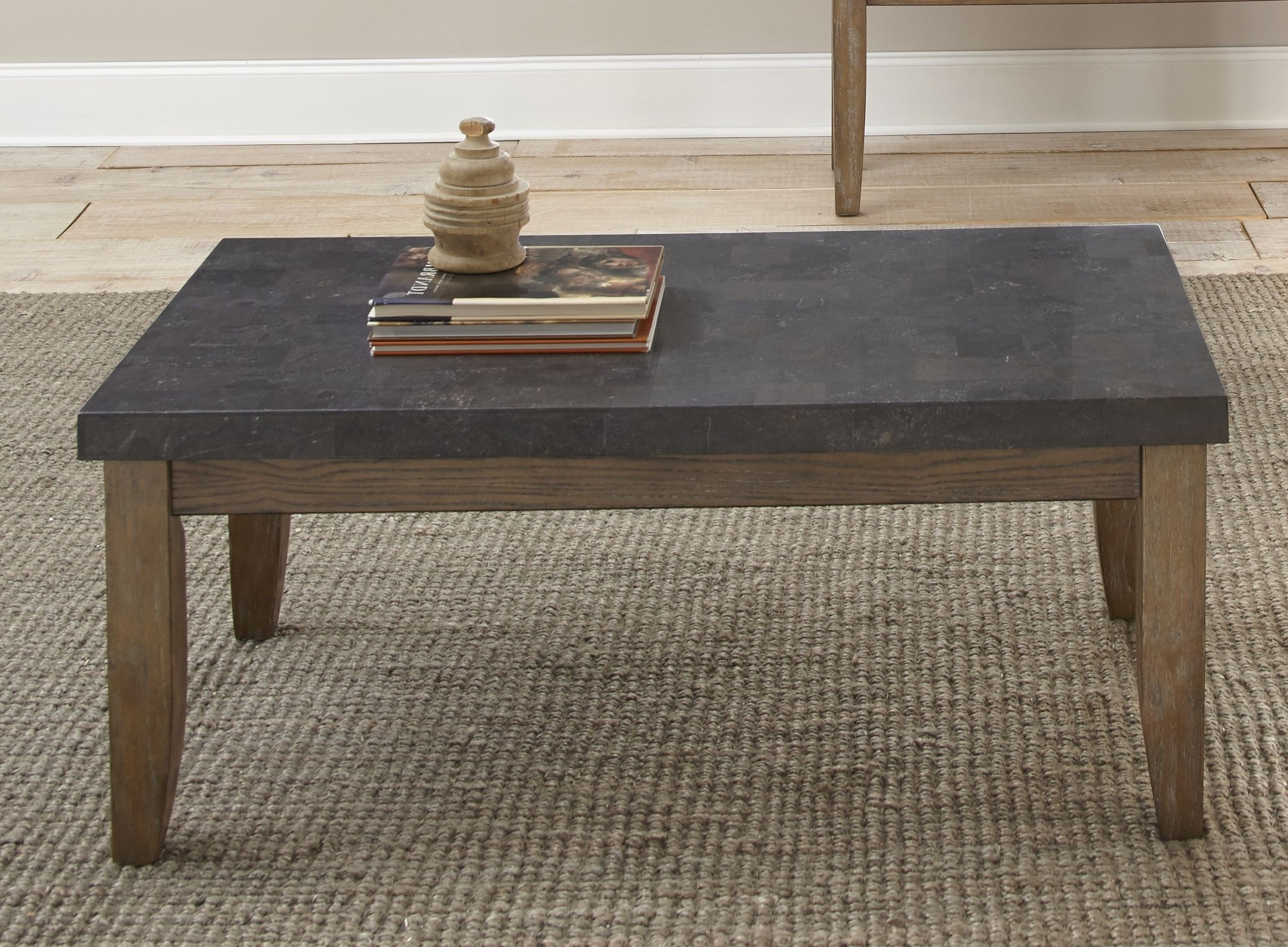 Most Up To Date Bluestone Rustic Black Coffee Tables Throughout Lark Manor Dejardins Bluestone Coffee Table & Reviews (View 14 of 20)