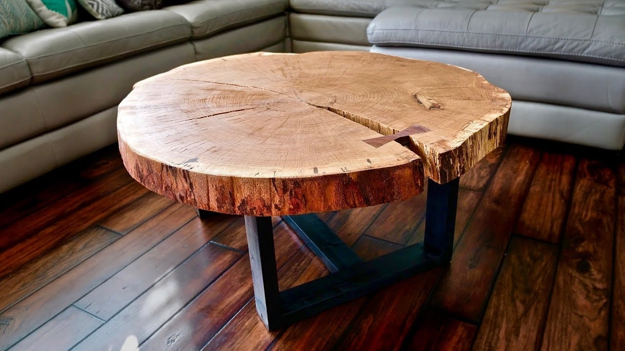 Most Up To Date Fresh Cut Side Tables For Live Edge Coffee Table, How To Flatten A Live Edge Slab (View 7 of 20)