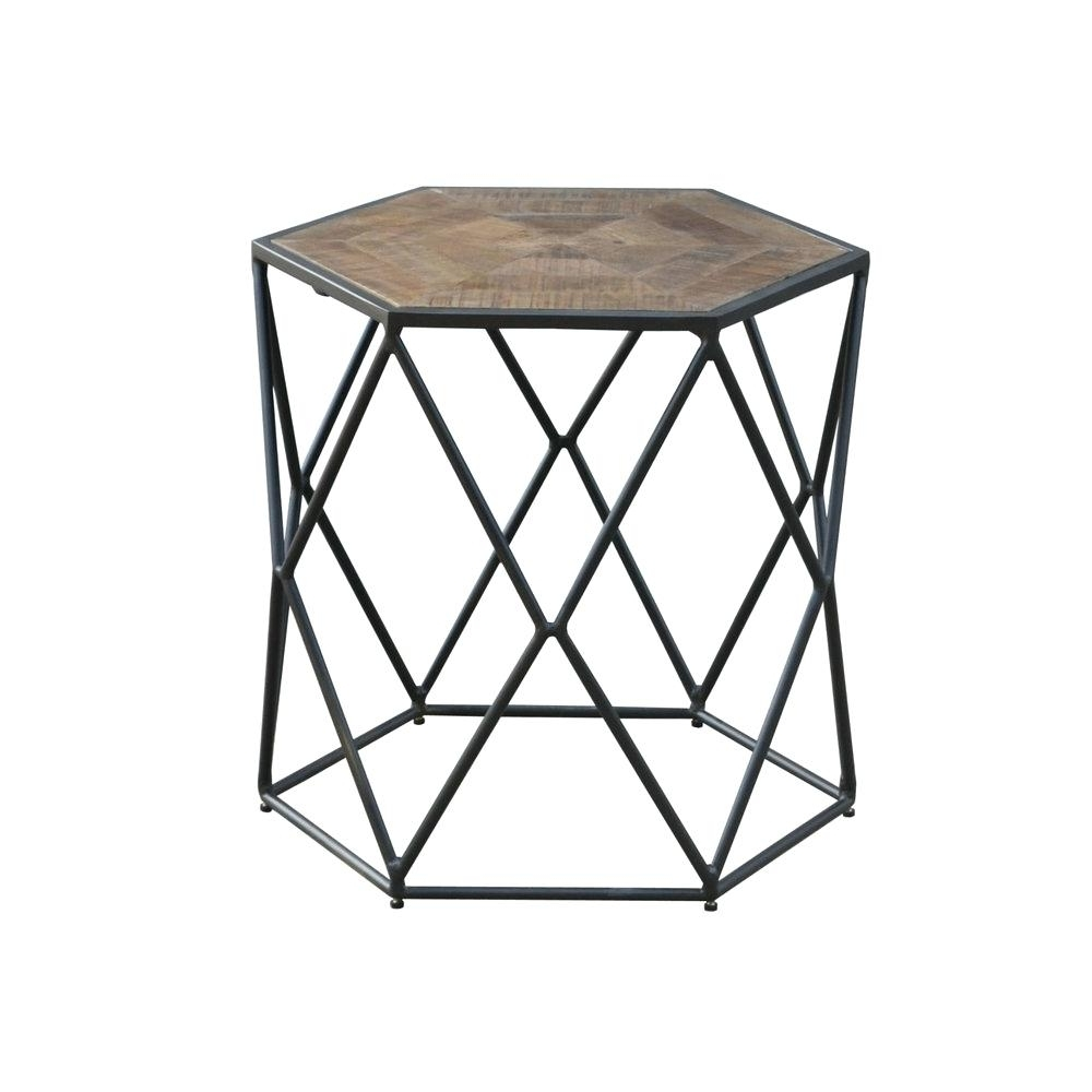 Most Up To Date Geo Faceted Coffee Tables Throughout Hexagon Side Tables Interesting Table With Faceted Wood Coffee West (View 11 of 20)