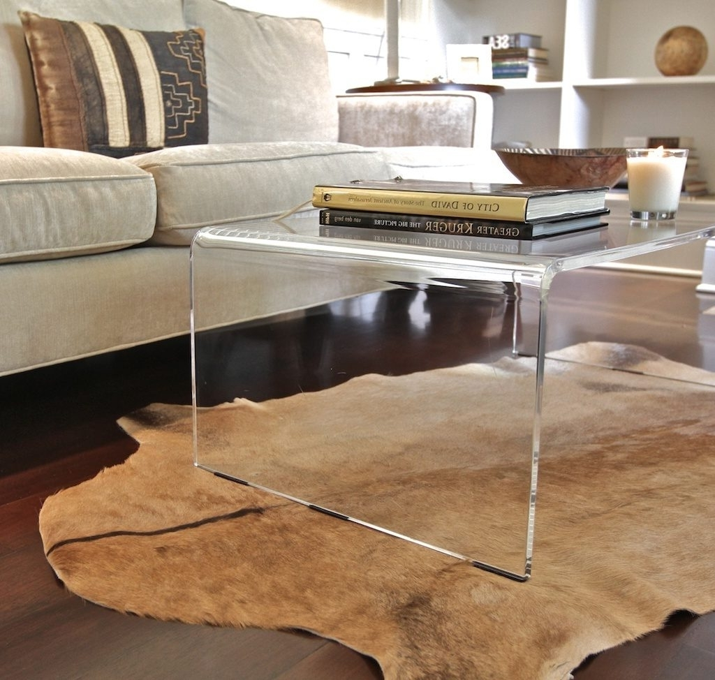 Most Up To Date Modern Acrylic Coffee Tables Regarding Preview Large: Amazing Of Acrylic Coffee Tables With Lucite Coffee (View 15 of 20)