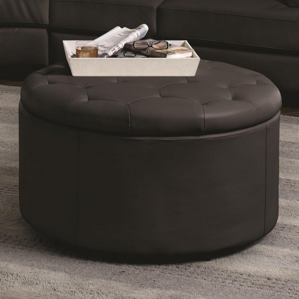 Most Up To Date Round Button Tufted Coffee Tables Throughout Splendiferous Large Ottoman Coffee Table Ottoman Coffee Table Square (View 6 of 20)