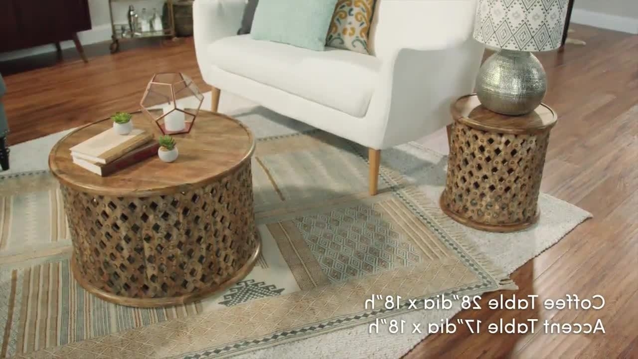 Most Up To Date Round Carved Wood Coffee Tables Pertaining To Carved Wood Coffee Tables Round Tribal Table World Market 1280× (View 15 of 20)