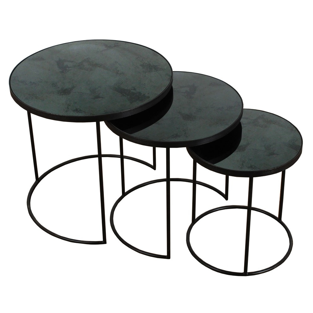 Most Up To Date Set Of Nesting Coffee Tables Intended For Notre Monde Nesting Side Table Set Of  (View 9 of 20)