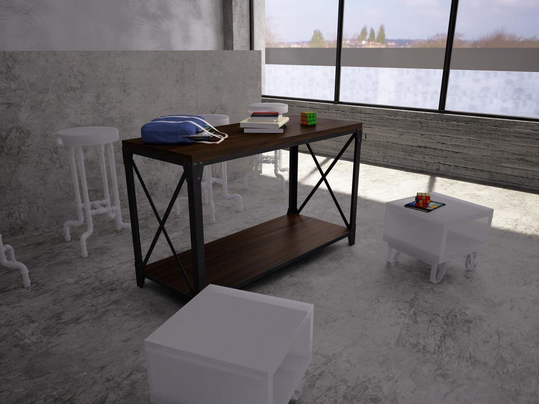 Mountainier Sofa Table 3D Model In Table 3Dexport Regarding 2018 Mountainier Cocktail Tables (View 12 of 20)