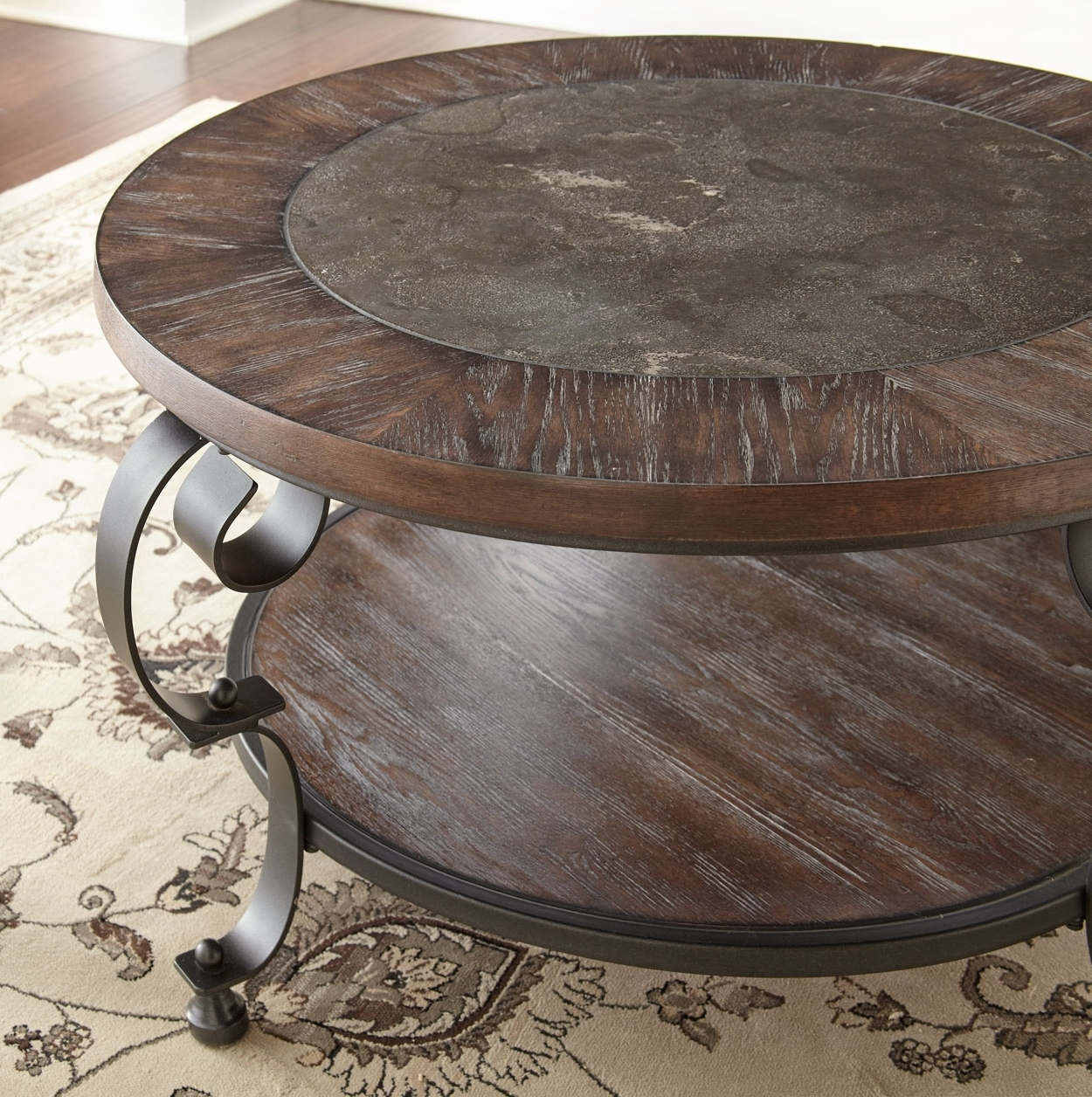 Mulberry Round Cocktail Table – Brown's Furniture Showplace Regarding Newest Zander Cocktail Tables (View 11 of 20)