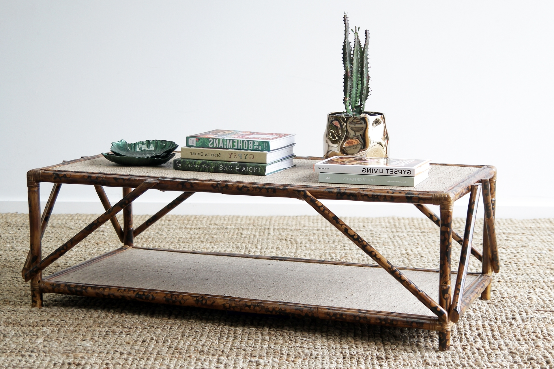 Naturally Cane Rattan And Wicker Furniture Inside Latest Cacti Brass Coffee Tables (View 15 of 20)