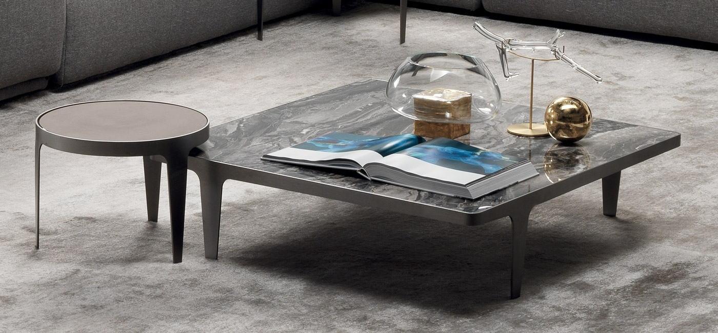 Natuzzi Italia For Trendy Mill Large Leather Coffee Tables (View 3 of 20)