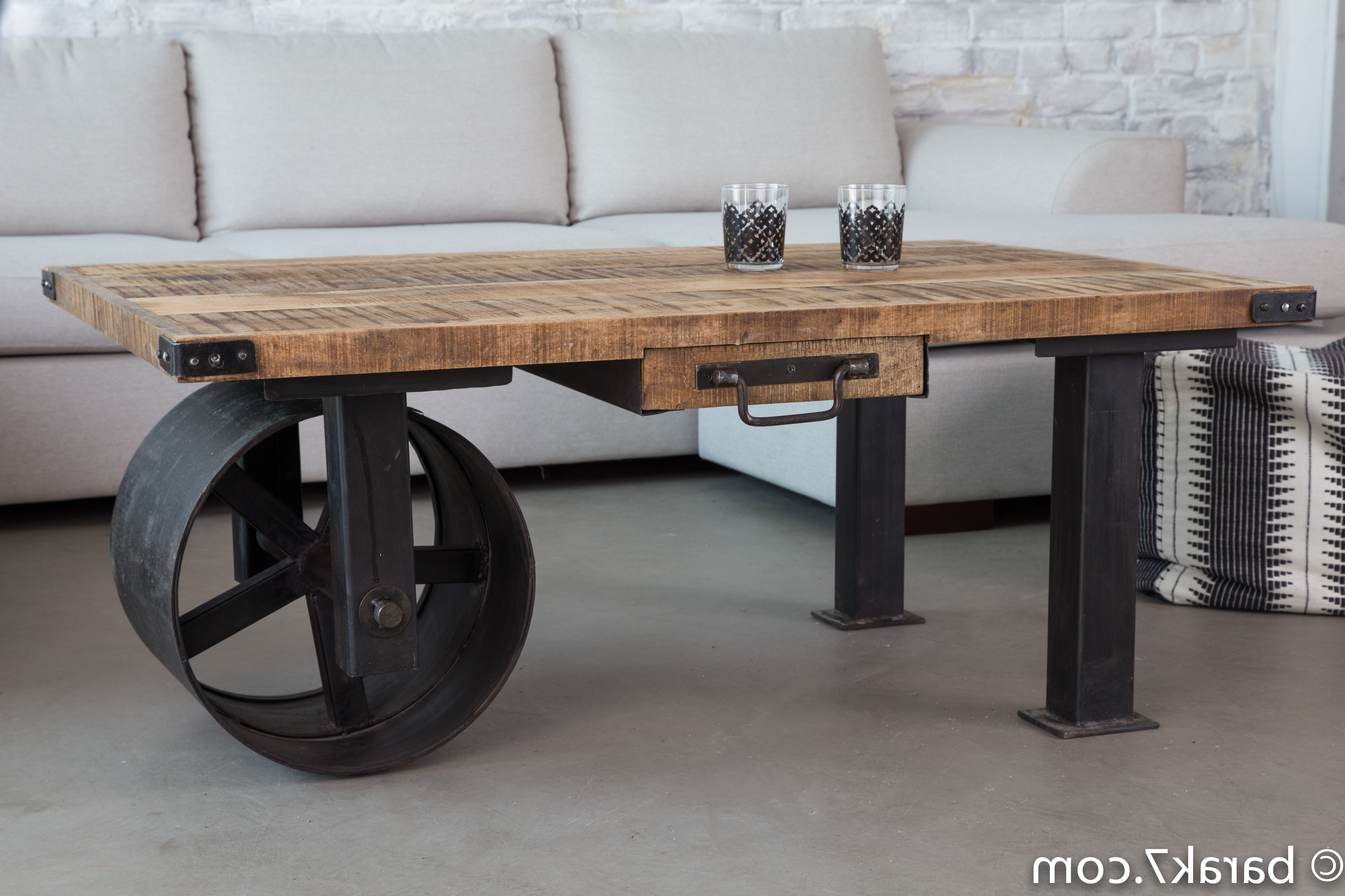 New Industrial Style Furniture Range From Barak'7 – The Art Of Within 2018 Iron Wood Coffee Tables With Wheels (View 11 of 20)