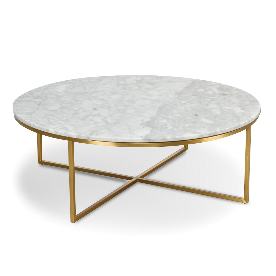 New Marble Coffee Table Within Rosa Modern Black Brushed Gold Inside Newest Alcide Rectangular Marble Coffee Tables (Gallery 6 of 20)