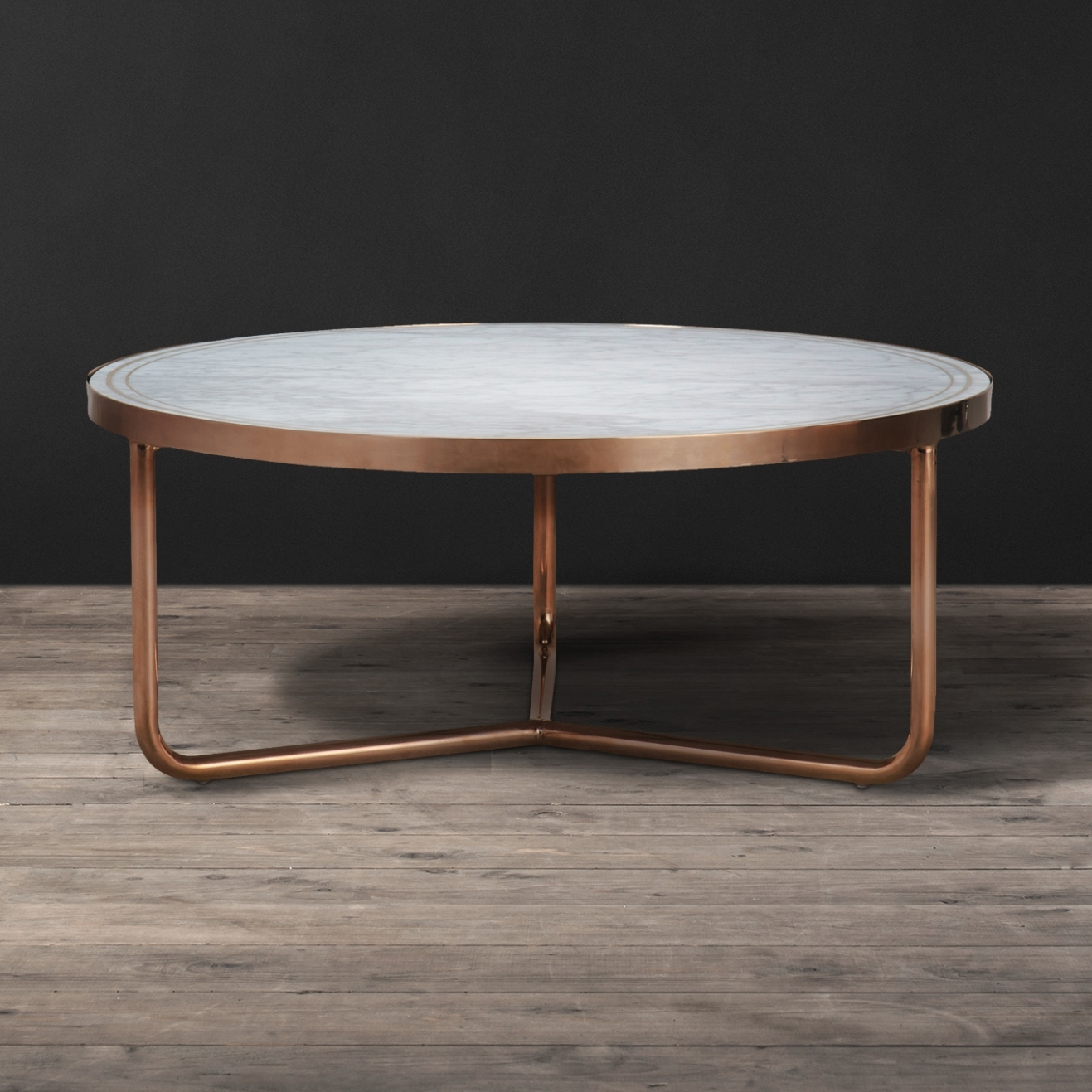 New Marble Coffee Table Within Rosa Modern Black Brushed Gold With 2017 Alcide Rectangular Marble Coffee Tables (View 7 of 20)