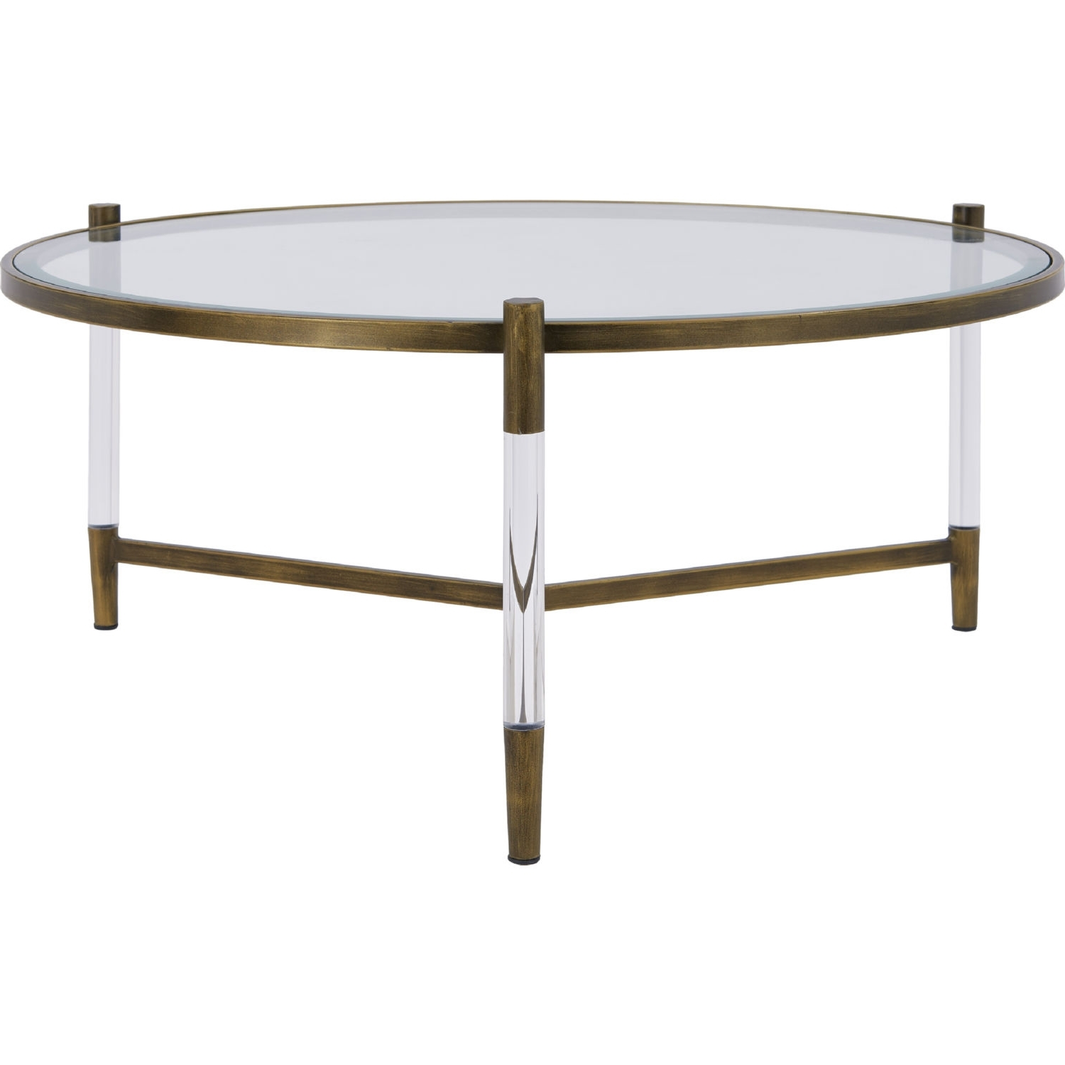New Pacific Direct 1600028 Amaris Coffee Table In Acrylic, Brushed Within Latest Acrylic & Brushed Brass Coffee Tables (View 19 of 20)