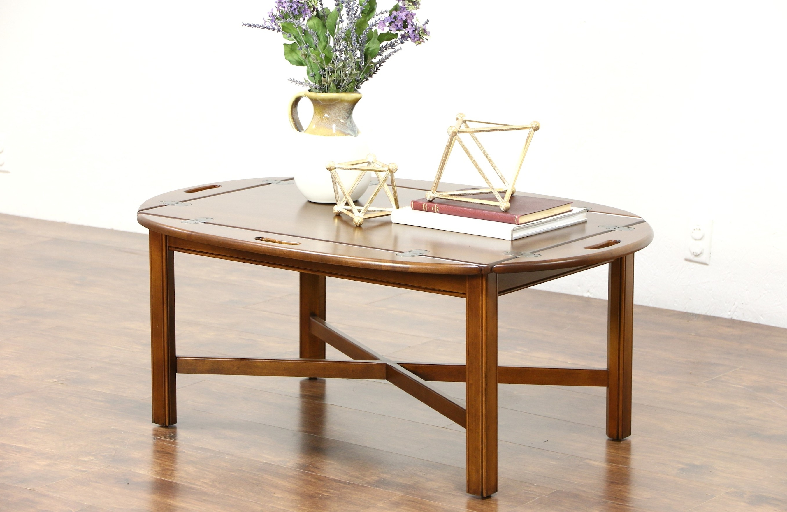 Newest Allen Cocktail Tables With Sold – Ethan Allen Signed Vintage Cherry Butler Coffee Or Cocktail (View 9 of 20)