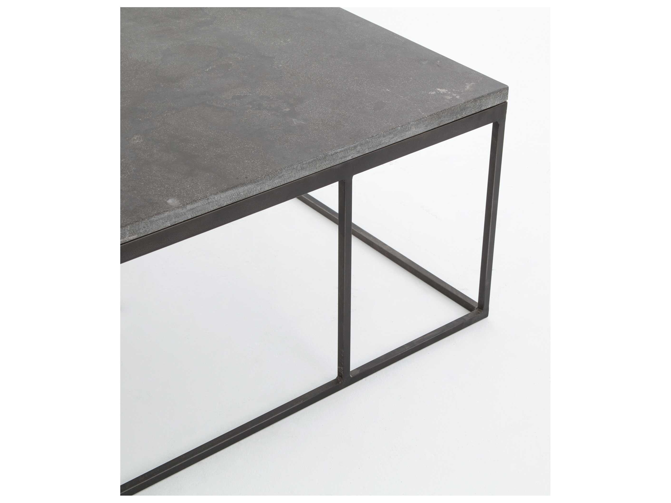 Newest Bluestone Rustic Black Coffee Tables Intended For Four Hands Hughes Bluestone 60 X 28 Rectangular Harlow Small Coffee (View 15 of 20)