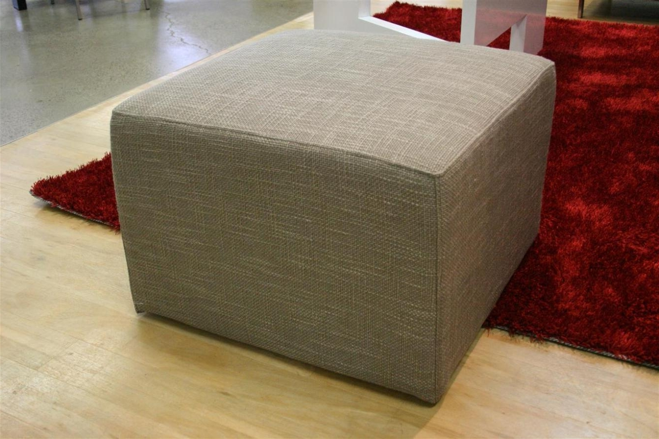 Newest Elba Ottoman Coffee Tables Inside Blue Fabric Ottoman Coffee Table — Bed And Shower : Contemporary (View 13 of 20)