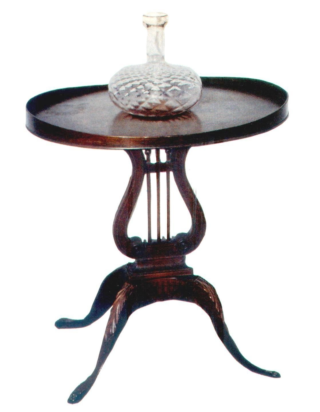 Newest Lyre Coffee Tables In Mersman Lyre Coffee Table – View Here — Coffee Tables Ideas (View 15 of 20)