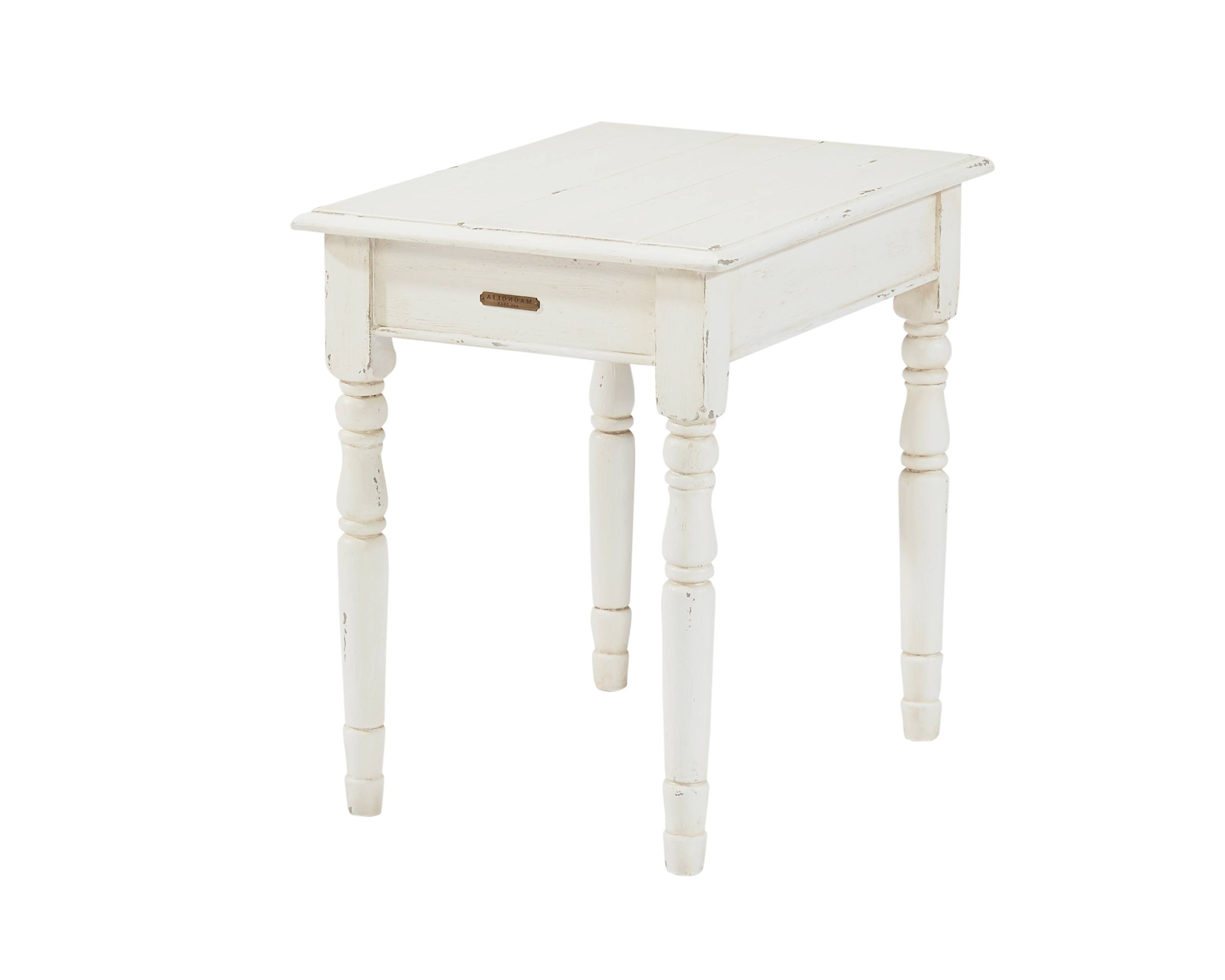 Newest Magnolia Home Scallop Antique White Cocktail Tables Intended For Homestead + Scallop – Magnolia Home (View 17 of 20)