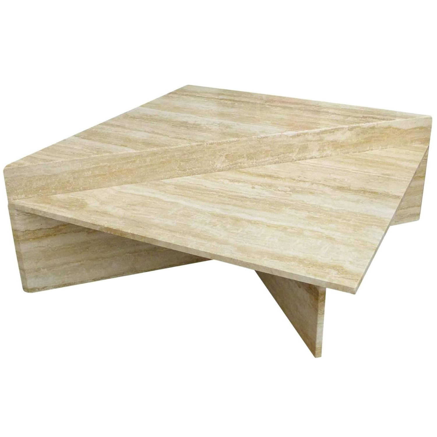 Newest Modular Coffee Tables Throughout Two Piece Modular Travertine Coffee Table At 1stdibs (View 15 of 20)